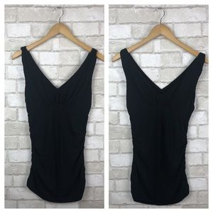 CAbi Grecian Ruched Tank Top Size S